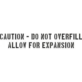 Beschriftungsschablone CAUTION - DO NOT... 1inch (25,4mm)