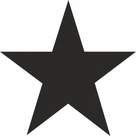 Beschriftungsschablone Stern 5inch (127mm)
