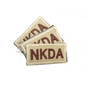 Abzeichen NKDA mit Klett khaki 3er Pack