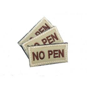 Abzeichen NO PEN mit Klett khaki 3er Pack