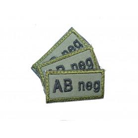 Abzeichen AB neg mit Klett oliv 3er Pack