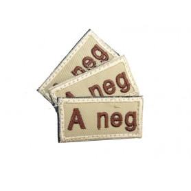 Abzeichen A neg mit Klett khaki 3er Pack