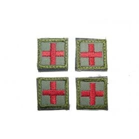 Abzeichen Medic klein mit Klett oliv 4er Pack