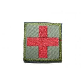 Abzeichen Medic groß mit Klett olive