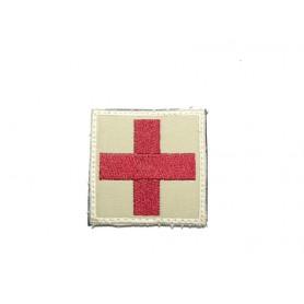 Abzeichen Medic groß mit Klett khaki