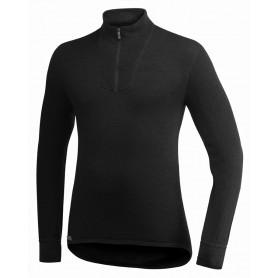 Woolpower Zip Polo Shirt 200 schwarz