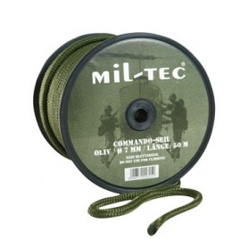 Commando Seil Rolle mit Militär Rebschnur oliv 5mm 70m