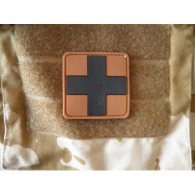 3D Rubber Patch Medic desert-black