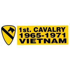 Aufkleber 1st Cav. Vietnam weiß