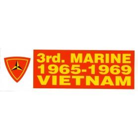 Aufkleber 3rd Marine Vietnam weiß