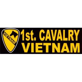 Aufkleber 1st Cav. Vietnam schwarz
