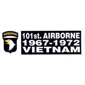 Aufkleber 101st ABN Vietnam weiß