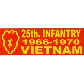 Aufkleber 25th ID Vietnam rot
