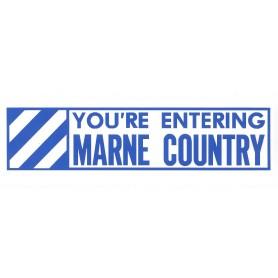 Aufkleber 3rd ID Marne Country weiß