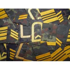 BW Rangabzeichen mit Klett Marine flecktarn