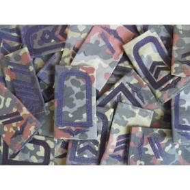 BW Rangabzeichen mit Klett Luftwaffe, schwarz auf flecktarn