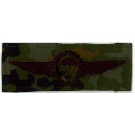 BW Abzeichen Fallschirmspringer schwarz auf tarn