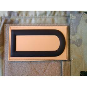 3D Rubber Dienstgradabzeichen Patch desert Stabsunteroffizier