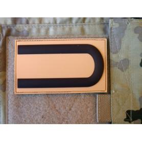 3D Rubber Dienstgradabzeichen Patch desert Unteroffizier