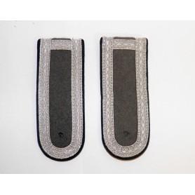 NVA Schulterklappen Unterfeldwebel schwarz, neu