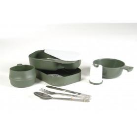 Schwed. Essgeschirr Kunststoff 7-tlg. oliv