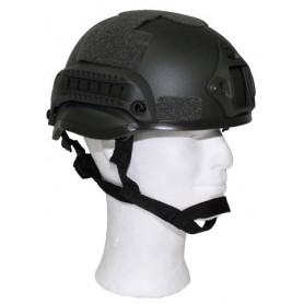 US MICH Helm ABS-Kunststoff mit Rails und NVG Mount, oliv