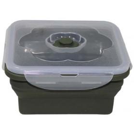 Silikon Lunchbox 1l (15,5x15,5x11cm) oliv