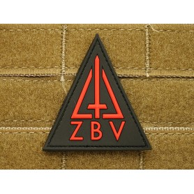 3D Rubber Patch ZBV Commando Patch, rot