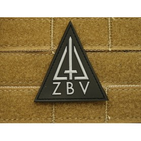 3D Rubber Patch ZBV Commando Patch, schwarz