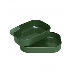Schwed. Essgeschirr Kunststoff oliv