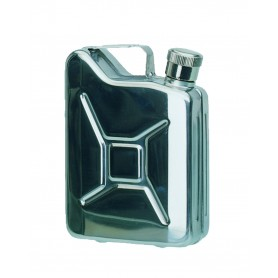 "Mil-Tec Taschenflasche ""JERRY'S CAN / STEEL 170 ML"