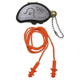 Gehörschutzstöpsel, orange, mit Transportbox, oliv