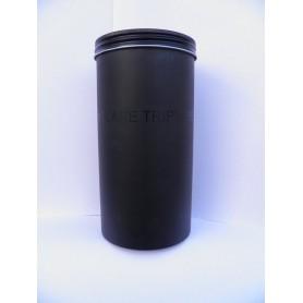 Brit. Aluminiumdose mit Schraubdeckel schwarz