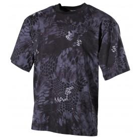 US T-Shirt, halbarm, snake black, 170g/m²