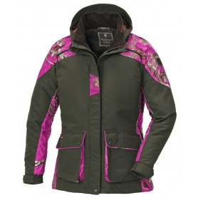 Pinewood Red Deer Jagdjacke Mossgrün / Hot Pink